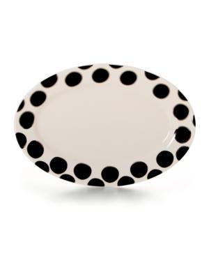 Cru Dinnerware, Black Pearl Oval Platter