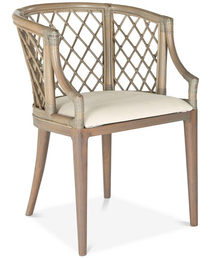Safavieh - Carlotta Arm Chair, Quick Ship