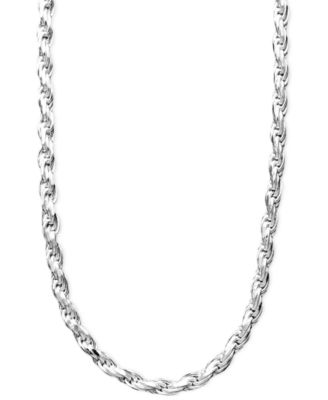 Sterling Silver Necklace, 24