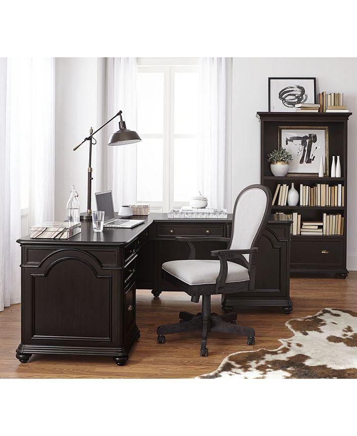 Furniture Clinton Hill Ebony Home Office L Shaped Desk Reviews Furniture Macy S