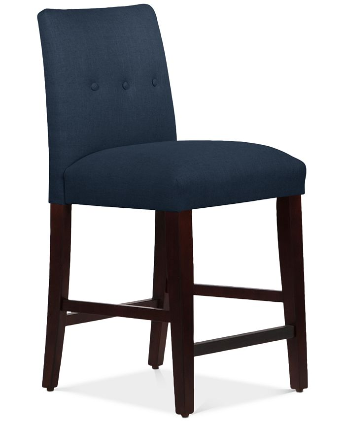 Skyline - Mirrell Tapered Counter Stool with Buttons, Direct Ship
