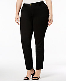 INC Plus Size Skinny Ponte Pants, Created for Macy's