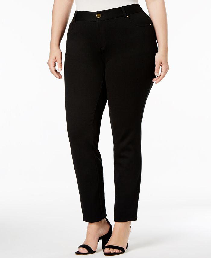 INC International Concepts - Plus Size Skinny Ponte Pants