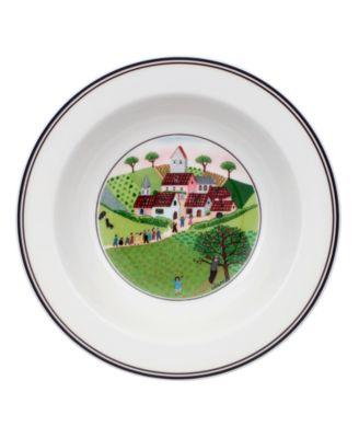 Villeroy & Boch Dinnerware, Design Naif Rim Cereal Bowl Wedding Procession