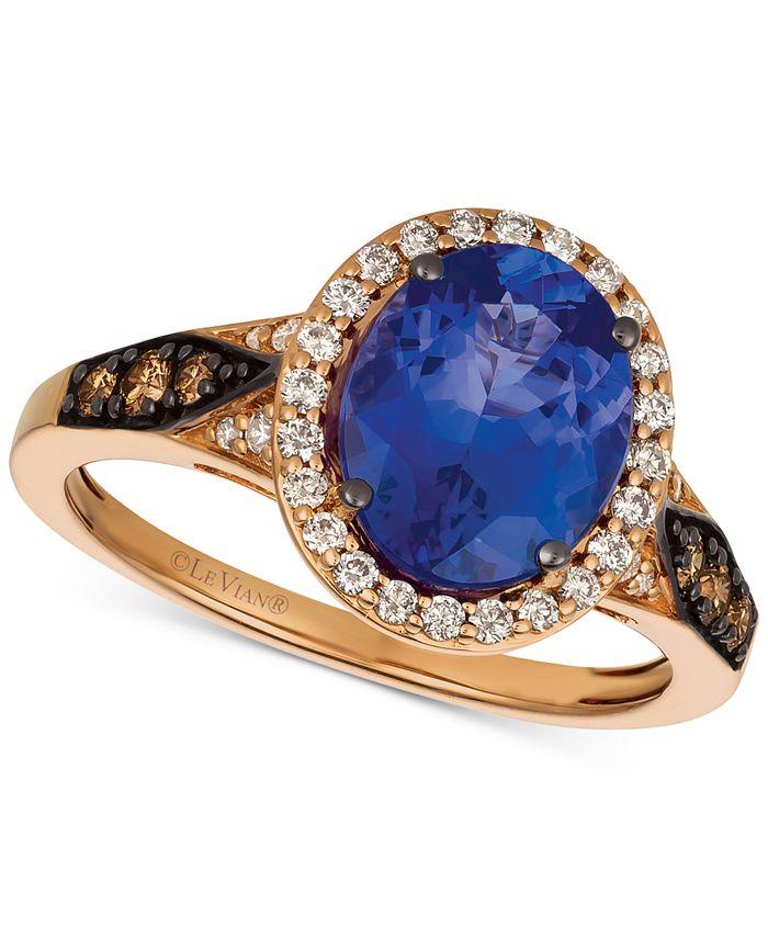 Le Vian - Blueberry Tanzanite® (2-1/2 ct. t.w.) & Diamond (3/8 ct. t.w.) Ring in 14k Rose Gold