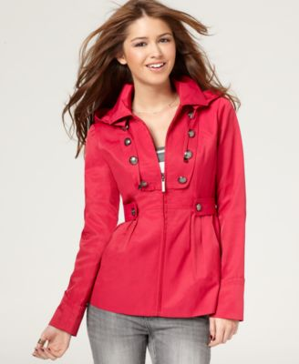 Steve Madden Jacket, Raincoat with Hood