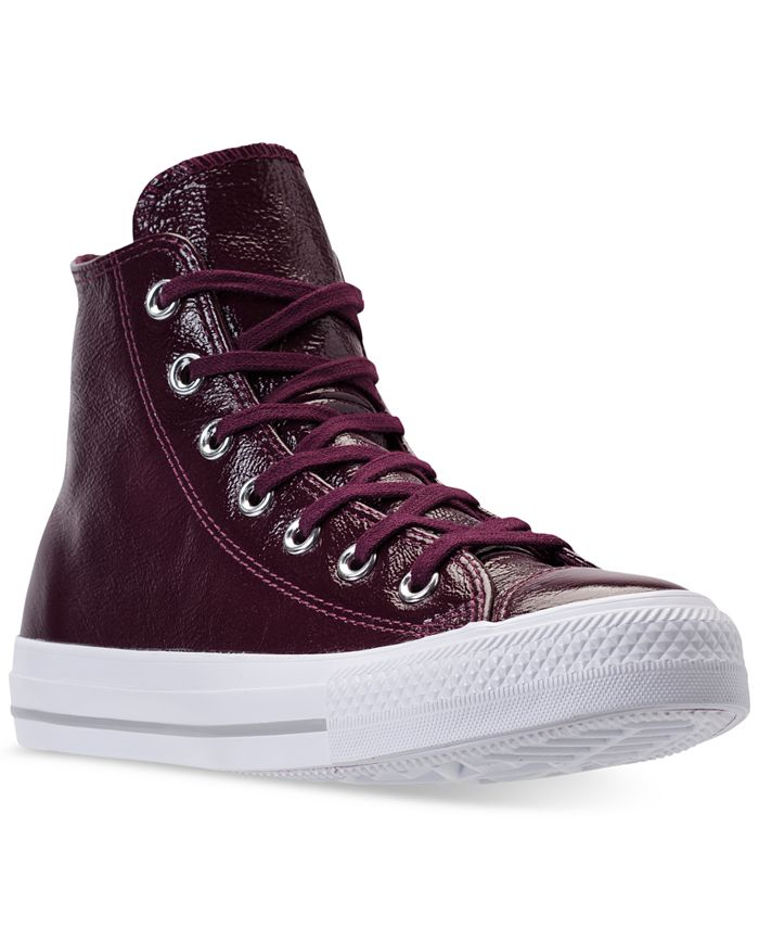 Converse - Women's Chuck Taylor High-Top Patent Casual Sneakers from Finish Line