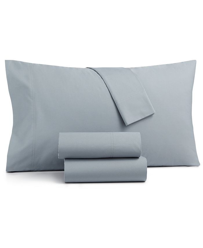 Charter Club - Brushed Cotton 300-Thread Count 3-Pc. Solid Twin Sheet Set