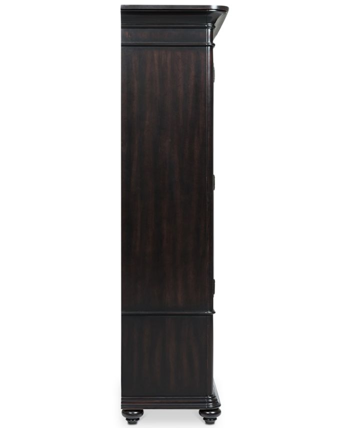 Furniture Clinton Hill Ebony Home Office Door Bookcase & Reviews - Furniture - Macy's