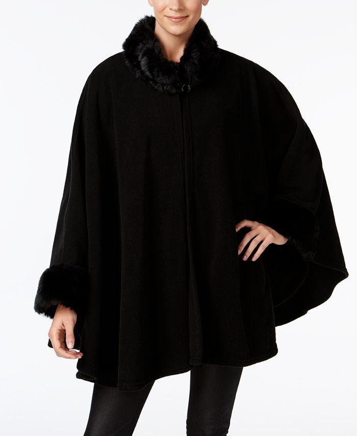 Cejon - Faux Fur & Fleece Cape