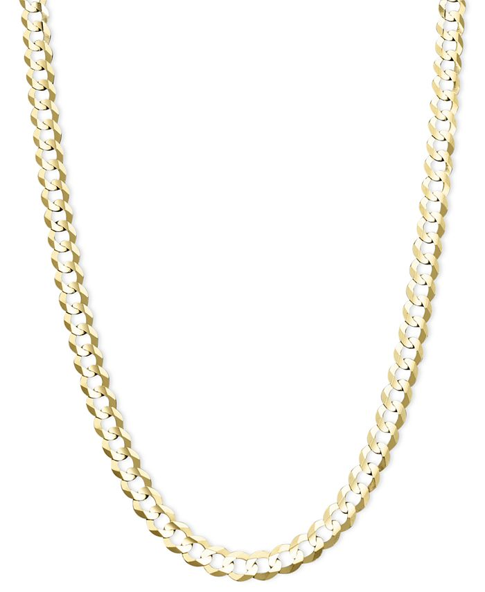 """Italian Gold - 22"""" Curb Chain (4-5/8mm) Necklace in 14k Gold"""