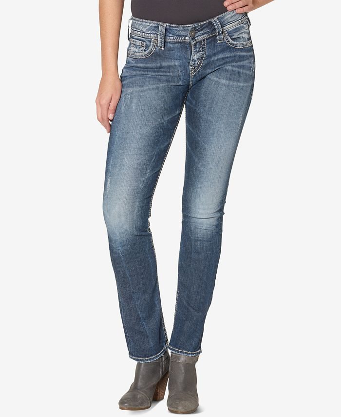 Silver Jeans Co. - Suki Mid Rise Curvy Straight Jeans