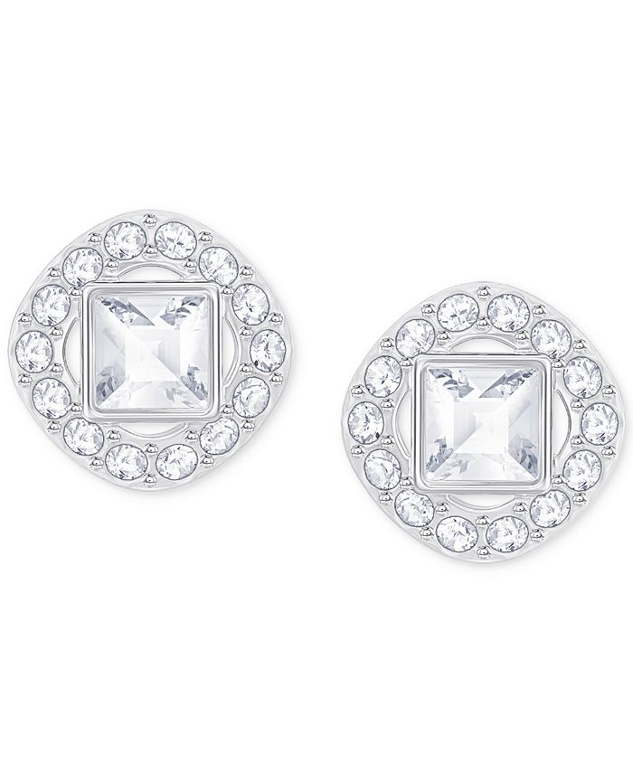 Swarovski - Square Crystal Halo Stud Earrings