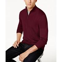Deals on Club Room Mens Quarter-Zip Merino Wool Blend Sweater