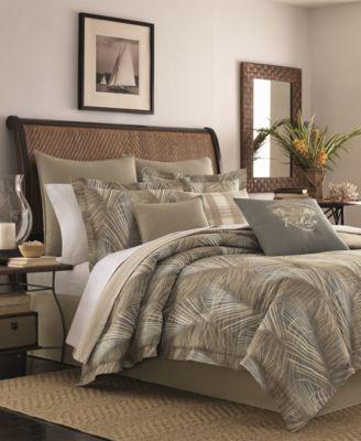 CLOSEOUT! Raffia Palms Reversible 4-Pc. Queen Comforter Set