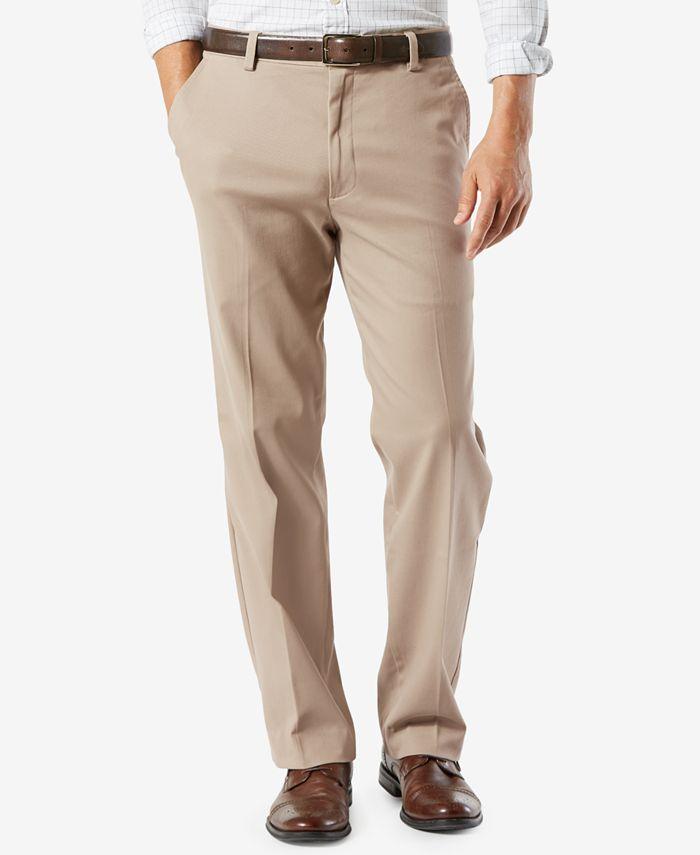 Dockers - Men's Easy Stretch Classic Fit Flat Front Khaki Pants
