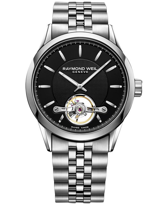 Raymond Weil - Men's Swiss Automatic Freelancer Stainless Steel Bracelet Watch 42mm