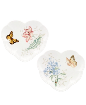 Lenox Dinnerware, Set of 2 Butterfly Meadow Heart Party Plates