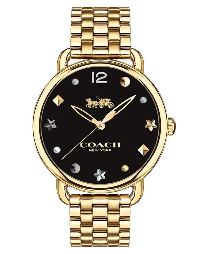 COACH - Women's Delancey Gold-Tone Bracelet Watch 36mm