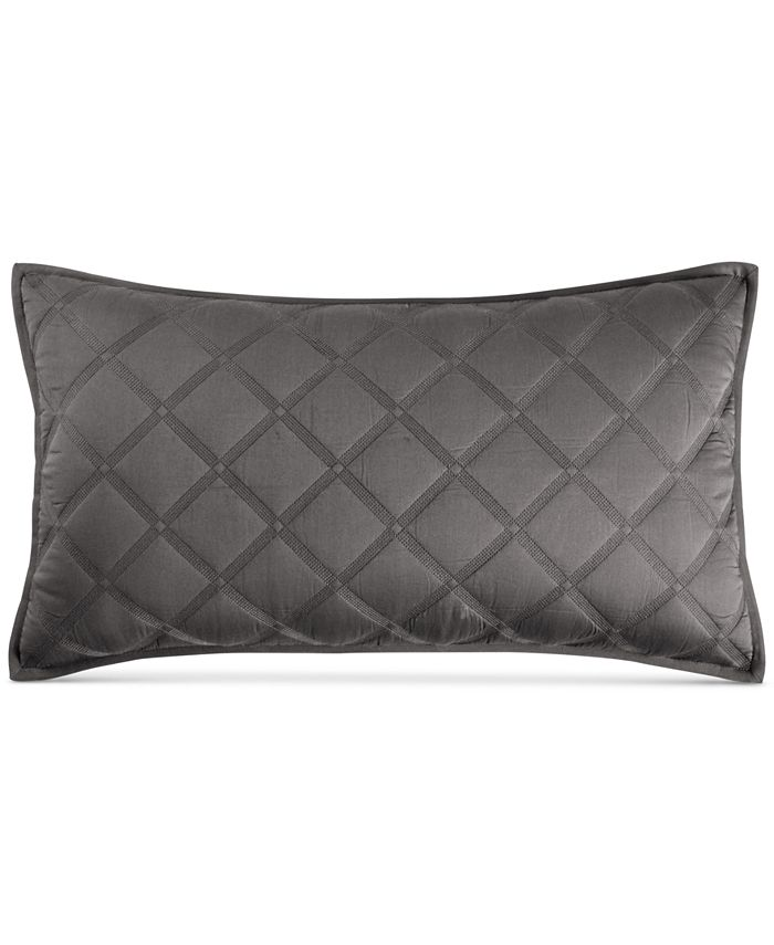 """Hotel Collection - Fretwork Quilted 14"""" x 26"""" Decorative Pillow"""