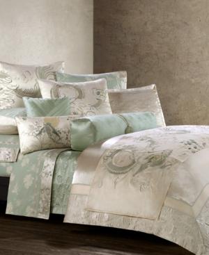 "Natori Bedding, Harmoni 18"" Green Lily Decorative Pillow Bedding"