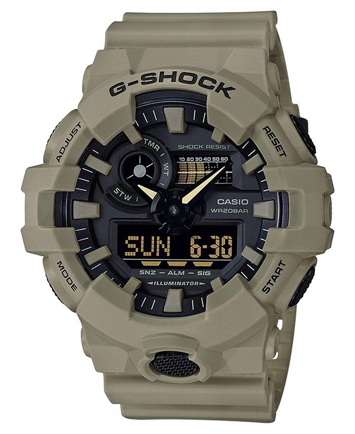 G-Shock - Men's Analog-Digital Beige Resin Strap Watch 53mm