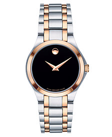 Movado Women's Swiss Two-Tone Stainless Steel Bracelet Watch 28mm, Created for Macy's