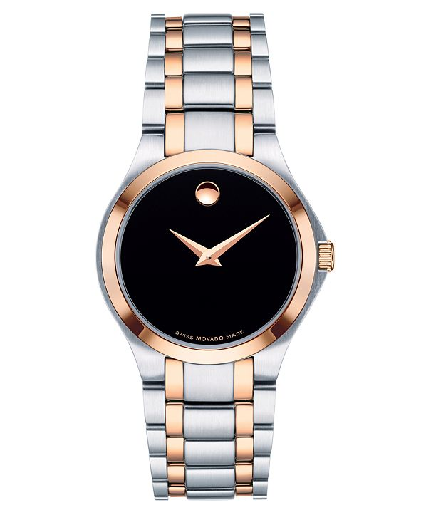 Movado Women's Swiss Two-Tone Stainless Steel Bracelet Watch 28mm, Created for Macy's