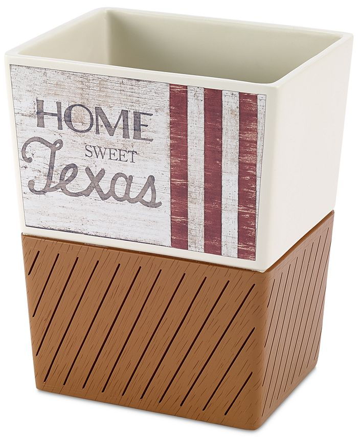 Avanti - Home Sweet Texas Wastebasket