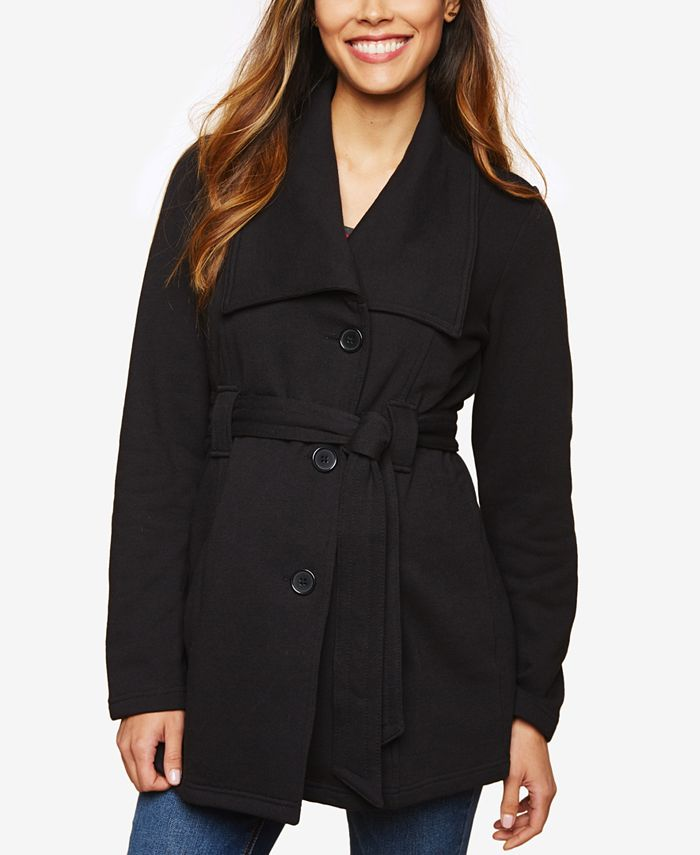 Motherhood Maternity - Maternity French Terry Belted Coat