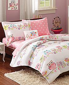 Mi Zone Kids Wise Wendy, White, 8-Pc. Reversible Queen Comforter Set