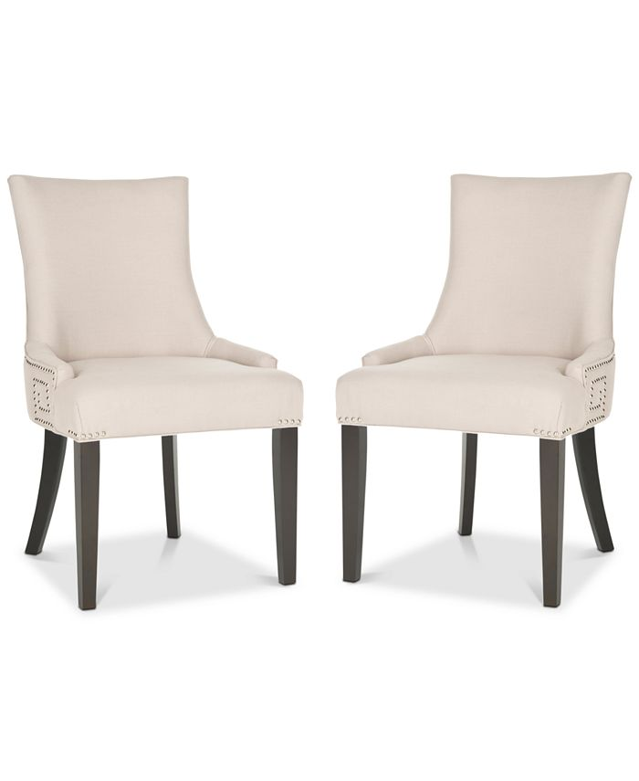 Safavieh - Mantell Dining Chairs With Nailhead Trim (Set Of 2), Quick Ship