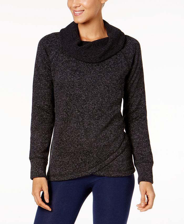 Ideology - Cowl-Neck Sweater Cross-Over Hem Top