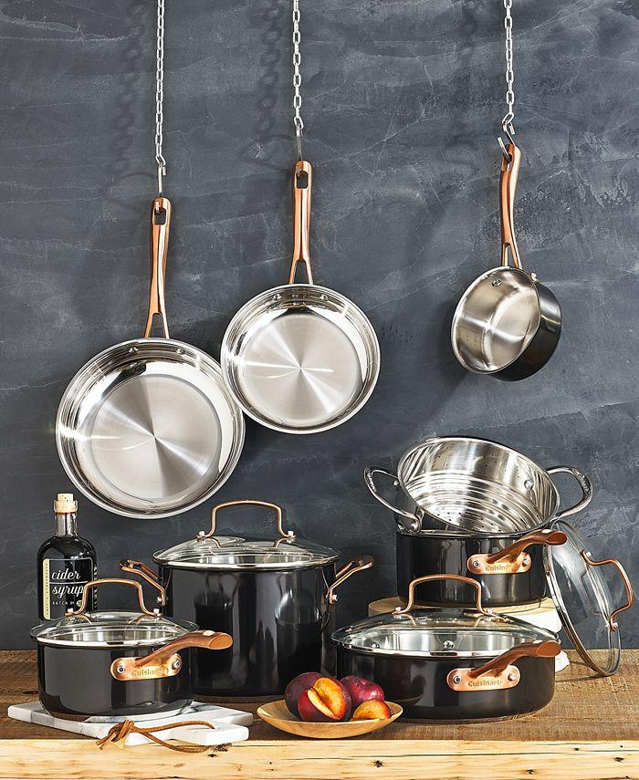 Cuisinart - Black & Gold 12-Pc. Cookware Set
