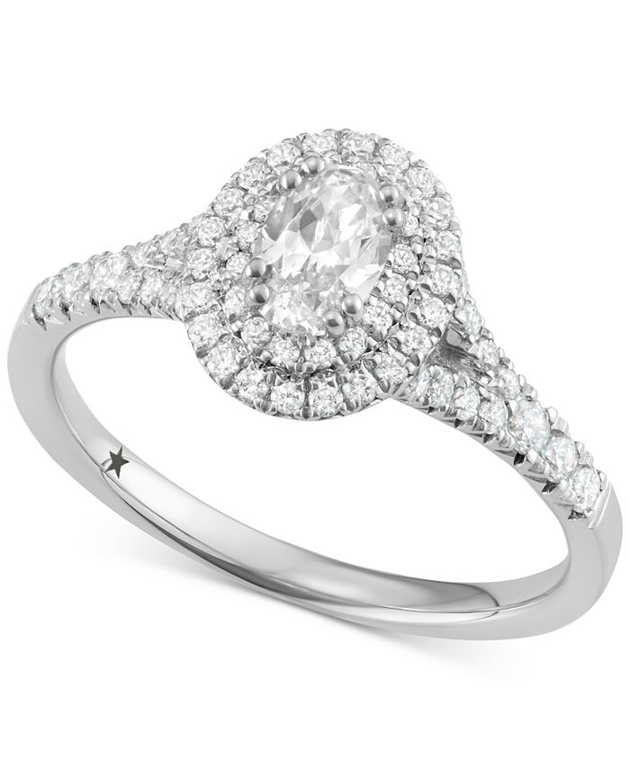 Macy's Star Signature Diamond - ™ Halo Engagement Ring (1 ct. t.w.) in 14k White or Yellow Gold