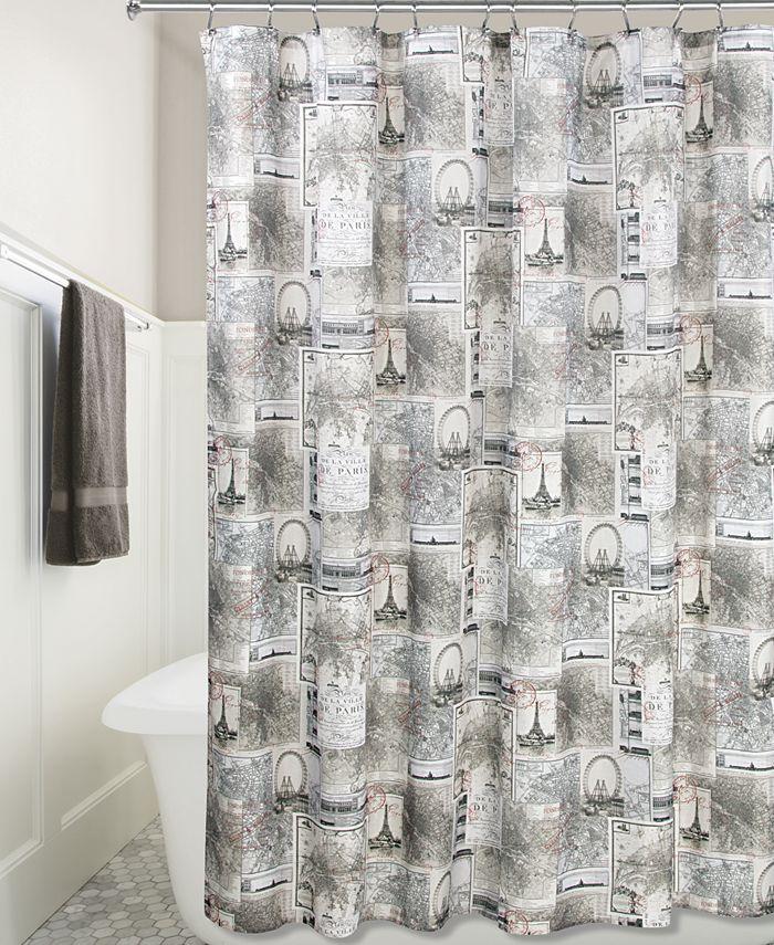 "Interdesign - Cityscapes Paris Graphic-Print 72"" x 72"" Shower Curtain"