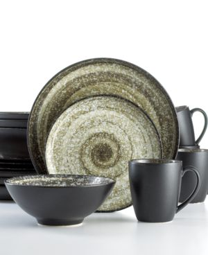 Sango Dinnerware, Soho Black 16 Piece Set