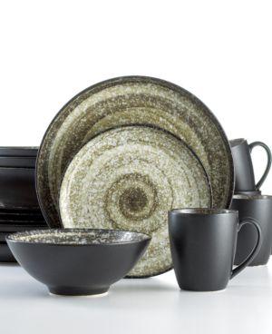 Sango Dinnerware, Soho Black 16 Piece Set