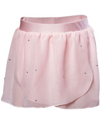 Embellished Georgette Wrap Skirt, Little Girls & Big Girls