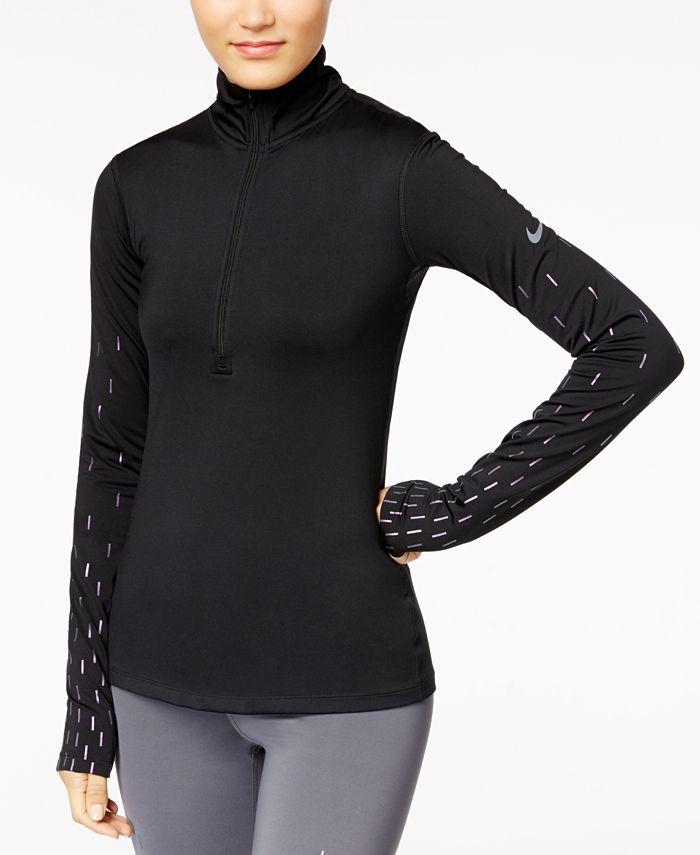 Nike - HyperWarm Fleece-Lined Half-Zip Top