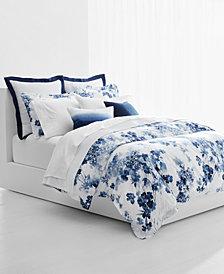 Lauren Ralph Lauren Flora Blue 3-Pc. Cotton Full/Queen Comforter Set