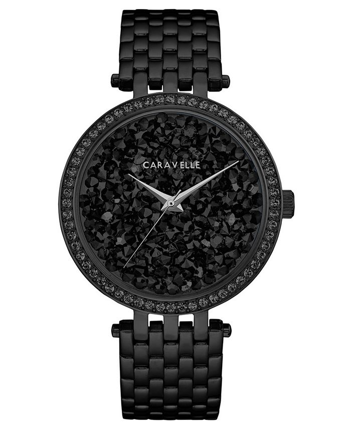 Caravelle - Women's Black Stainless Steel Bracelet Watch 38mm