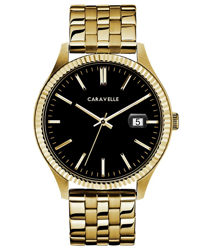 Caravelle - Men's Gold-Tone Stainless Steel Bracelet Watch 41mm