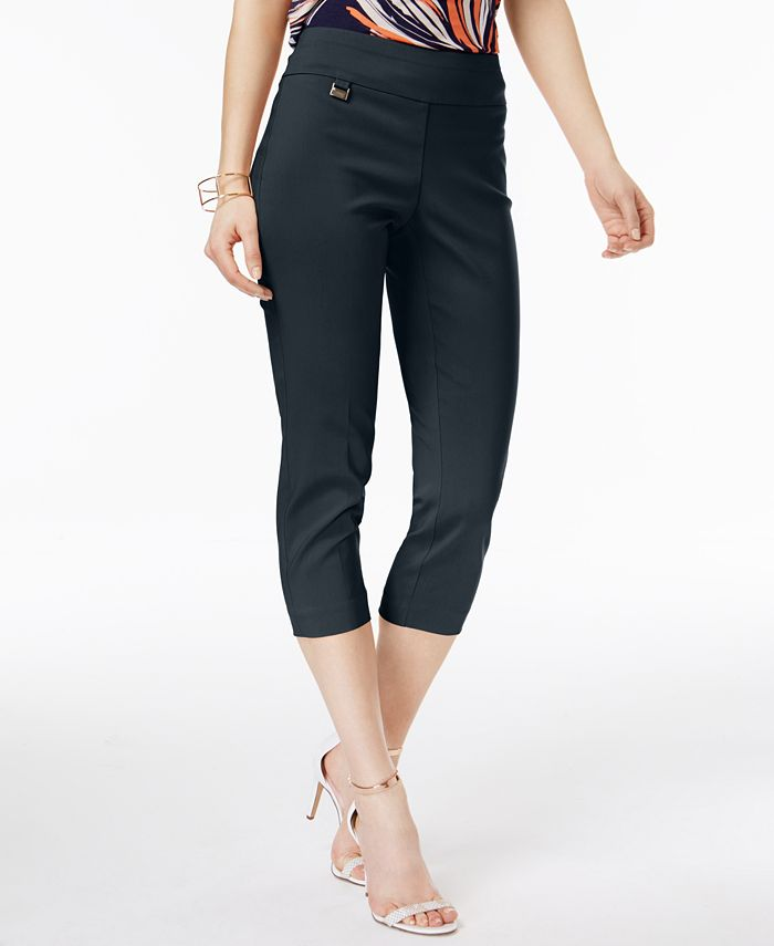 Alfani - Skinny Pull-On Capri Pants