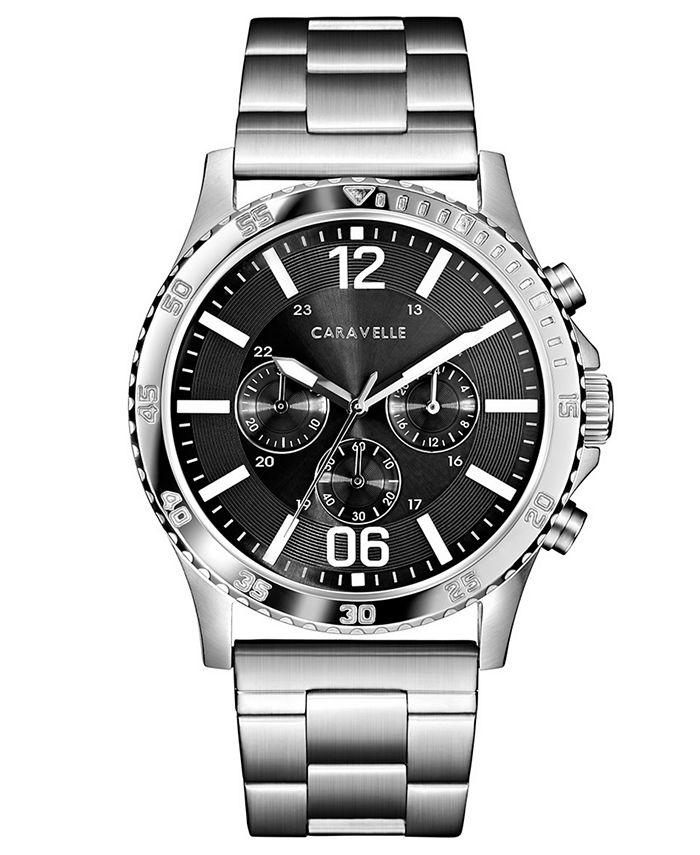 Caravelle - Men's Chronograph Stainless Steel Bracelet Watch 44mm