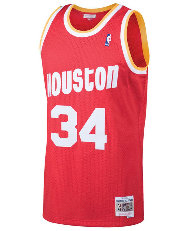 Mitchell & Ness Men's Hakeem Olajuwon Houston Rockets Hardwood Classic Swingman Jersey & Reviews - Sports Fan Shop By Lids - Men - Macy's