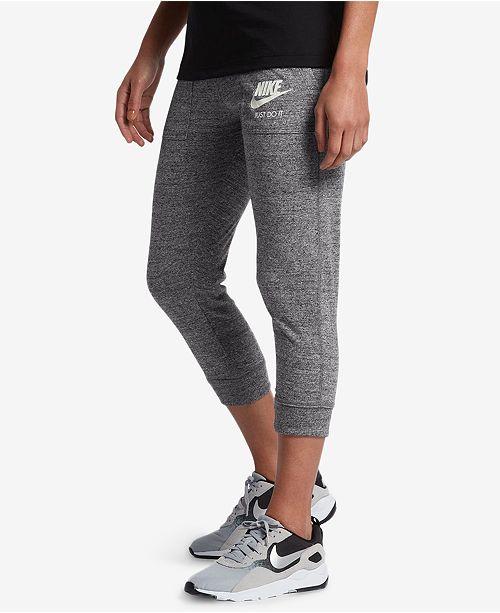 Nike Women's Gym Vintage Capri Pants & Reviews - Macy's