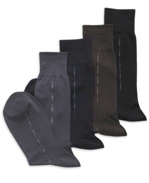 Perry Ellis Socks, Microfiber Luxury Stripe Socks