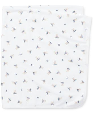 Ralph Lauren Baby Boys Bear-Print Cotton Blanket