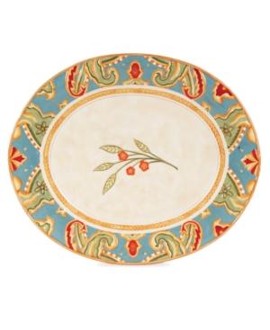 Fitz and Floyd Dinnerware, Carissa Paisley Platter